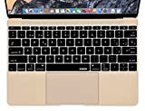 XSKN Spanish Silicone Keyboard Skin Cover for MacBook 12'' with Retina Display 2015 Version US Layout (Black)