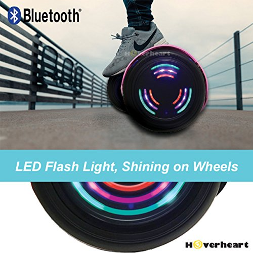 Hoverboard UL 2272 Certified Flash Wheel 6.5'' Bluetooth Speaker with LED Light Self Balancing Wheel Electric Scooter (Chrome Pink) by Hoverheart (Image #5)