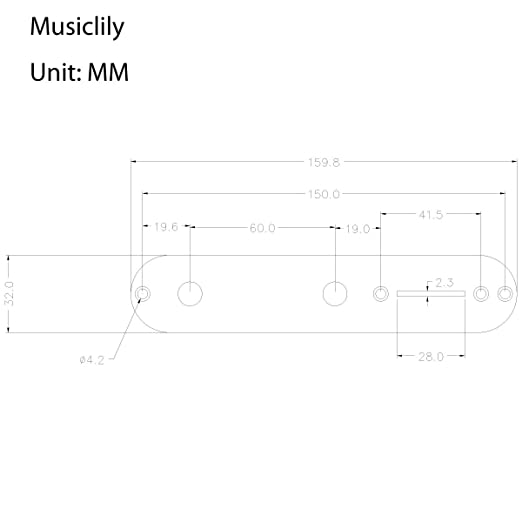 Amazon Com Musiclily 32mm Tele Control Plate For Fender Telecaster