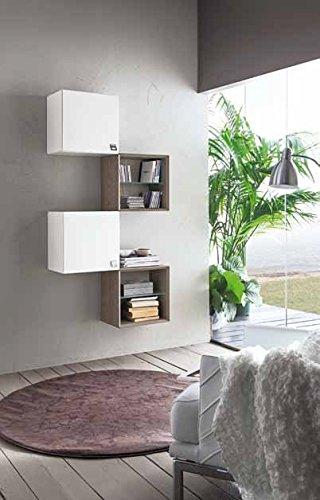 Mobile libreria con mensole ingresso moderno design salotto ...