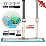 18'' Professional Silva Microfiber Mop System + 2 Free Microfiber Mop Pads + Scraper Cleaner | Efficient Slidable Plate Design | Premium Hardwood Floor Mop, Dust Mop and Tile Mop , Wet or Dry. (Mop)