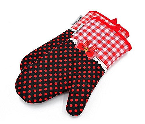 Silicone Oven Mitts Heat Resistant Butterfly Pattern Potholder Oven Gloves for Cooking Grilling BBQ Baking 1 Pair By YUTAT (Butterfly Mitt)