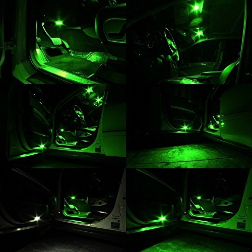 30 pack 194 green led light 12v amazenar car interior and import it all. Black Bedroom Furniture Sets. Home Design Ideas