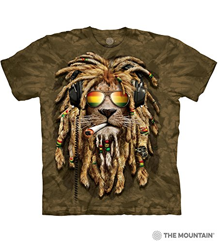 A&E Designs Rasta Lion Tie-Dye T-shirt, XL