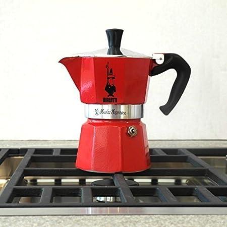Bialetti Moka Express Red Cafetera Italiana Espresso, 3 Tazas ...
