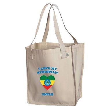 Amazon com: I Love My Ethiopian Uncle Organic Cotton Market Tote Bag