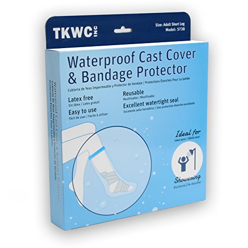 Water Proof Leg Cast Cover for Shower by TKWC Inc - #5738 - Watertight Foot Protector by TKWC Inc (Image #5)