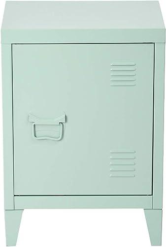 HOUSEINBOX.COM Nightstand Metal Cabinet-22.6IN Height Green