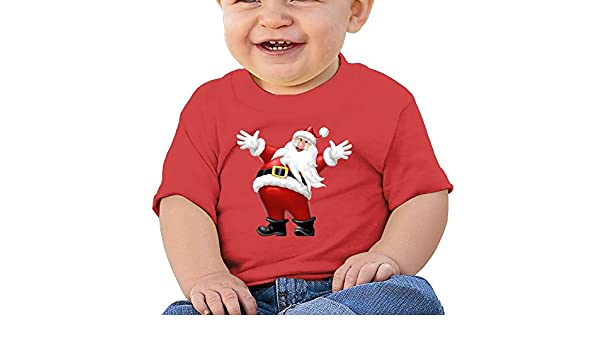 FFWWLHR Hug Santa Claus Baby Clothing Tops Unisex Cute Merry Christmas Cotton Baby Toddler Undershirts Tops