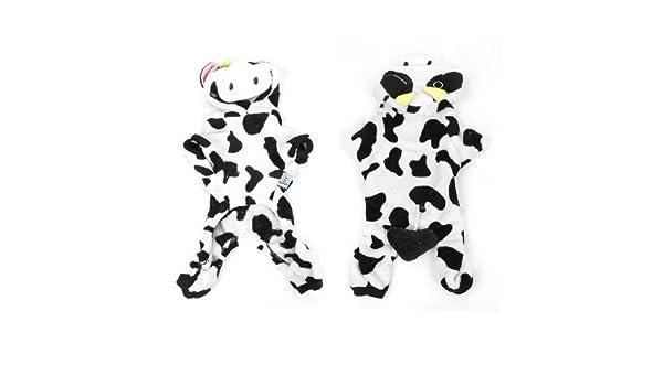 Amazon.com : eDealMax Felpa del invierno Negro vaca Blanca Con Capucha Patrón Mangas Animal doméstico del perro del perrito ropa de Abrigo Talla XS : Pet ...