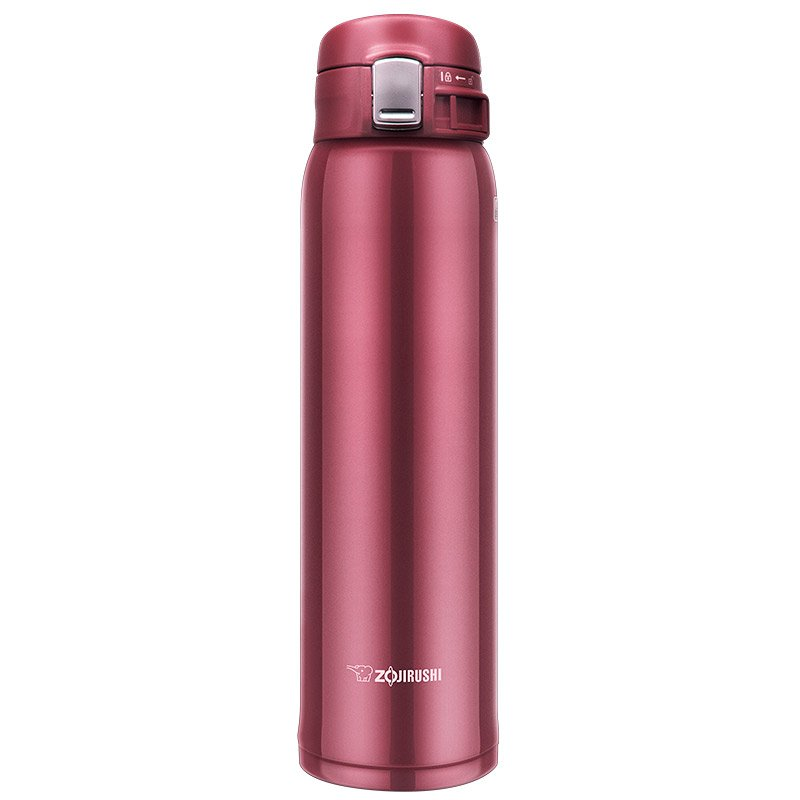 Zojirushi SM-SD60RC Stainless Steel Mug, 20-Ounce, New Clear Red
