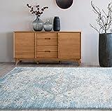 4620 Distressed Blue 7'10x10'6 Area Rug Carpet Large