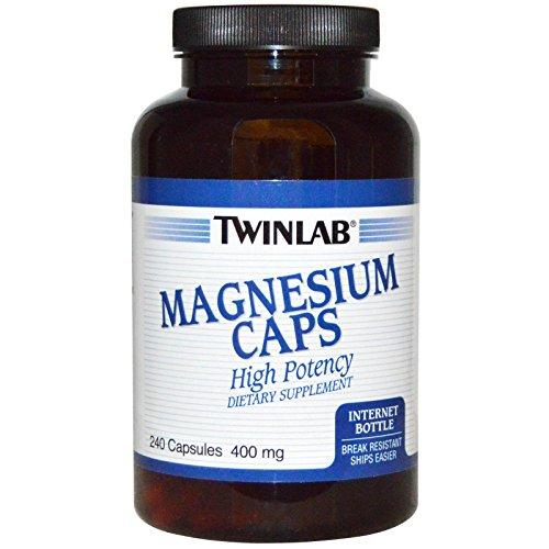 Twinlab Magnesium 400mg Capsules, 240 Count Caps 240 Capsules