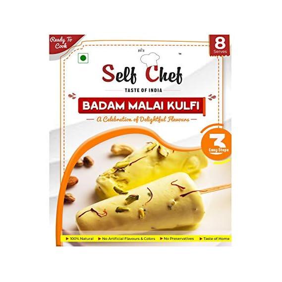 SELF CHEF Badam Malai Kulfi - Ready to Cook, Kulfi Mix Powder 200 GMS Serves 8