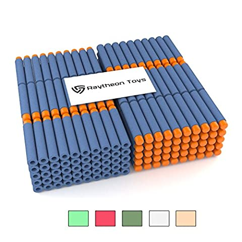 300-Pieces Set, Nerf Compatible Foam Toy Darts By Ray Squad, Premium Refill Bullets For N-Strike Guns, Universal Mega Pack, Firm and Safe Nerf Compatible - Gun Sniper Set