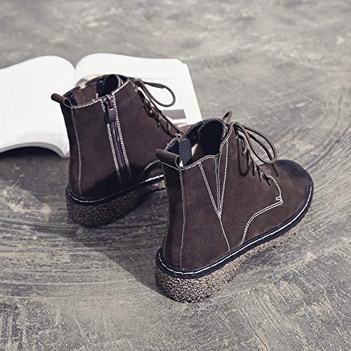 635c127ffb Shukun Stivaletti Martin stivali stivali stivali Donna scarpe Retro ...