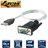 Sabrent USB to RS-232 DB9 Serial 9 pin Adapter (Prolific PL2303) SBT-USC1K