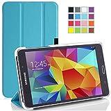 Galaxy Tab A 7.0 Case - Tisuns Galaxy Tab A 7.0 Leather Case - Ultra Slim Lightweight Stand Cover Case For 2016 Edition Samsung Galaxy Tab A 7.0 SM-280 / SM-285 Tablet - Light Blue
