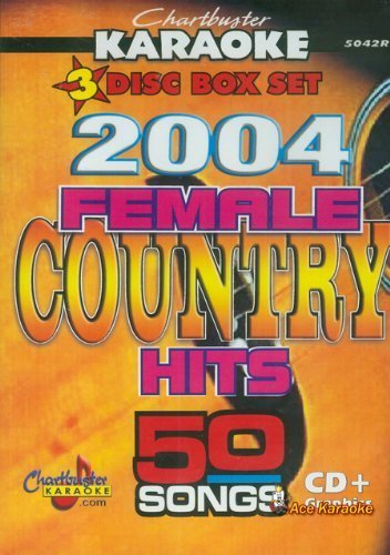 Chartbuster Karaoke CDG 3 Disc Box Set 5042R - 2004 Female Country Hits (Karaoke Disc 3)