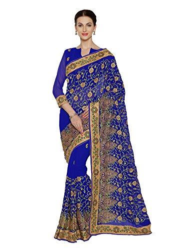 Royal Blue Saree - 9