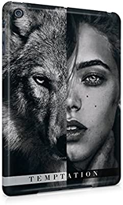 Wolf and naked woman have