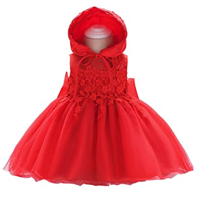 Amazon.com  DoMii Baby Girl Tulle Lace Princess Party Dresses Christening  Baptism Dress Formal Dedication Gown with Bonnet  Clothing b09d2da91c72
