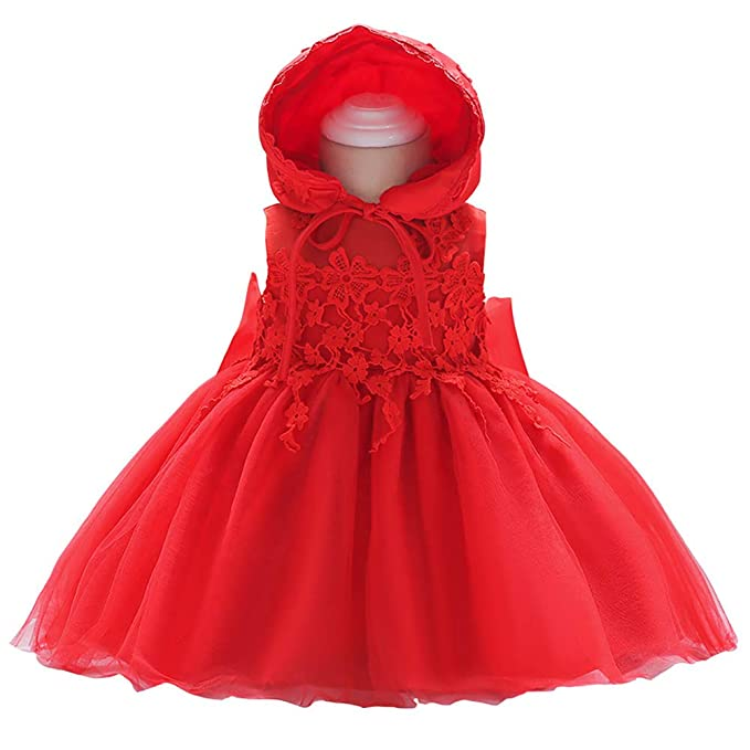 Amazon.com: domii bebé recién nacido vestido de niña bautizo ...
