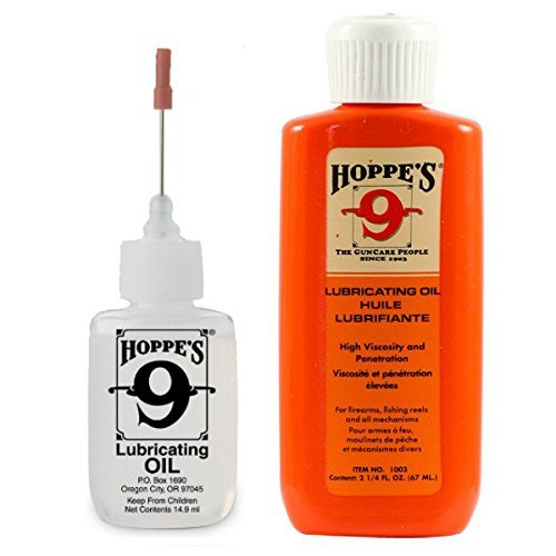 Hoppe's Oil Combo Pack - No. 9 Precision Bundled with 2-1/4 oz Refill (Best Ar 15 Lube)