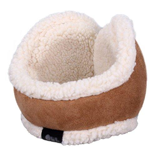 Surblue Winter Warm Earwarmer Knitted Earmuffs with Shearling Sheepskin