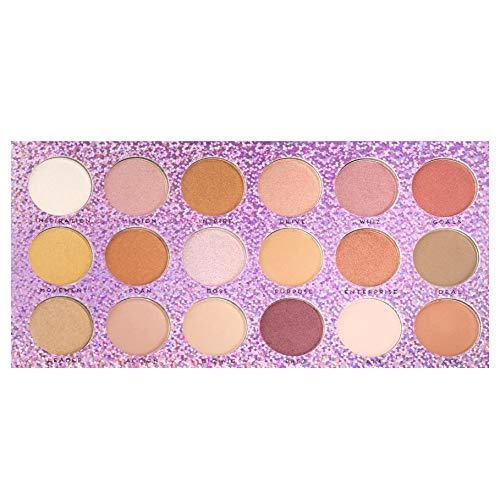 Nicole Miller Goal Digger Metallic Eye Shadow Palette with Mirror, Eye Makeup for Women, Makeup Set and Cosmetics for Girls, Metallic Eyeshadow Colors - 18 Neutral, Matte and Shimmery Shades