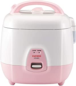 Cuckoo CR-0631 Rice Cooker, 6-cup, Pink