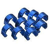 C-Clip - SODIAL(R)C-Clip 10pcs Snap Tubes Brake Hose Guide MTB BMX Bike Color: Blue