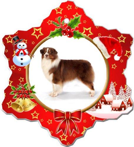 - Australian Shepherd Porcelain Holiday Ornament