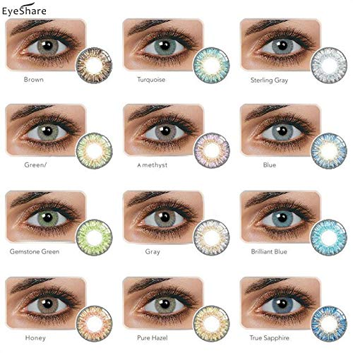 JINRYIGK 1 Pair Enlarger Eyes Supernatural Lens, Color Lens, Color Student, Beautiful Student, Change Eye Color Cosplay Yearly Use(Honey)