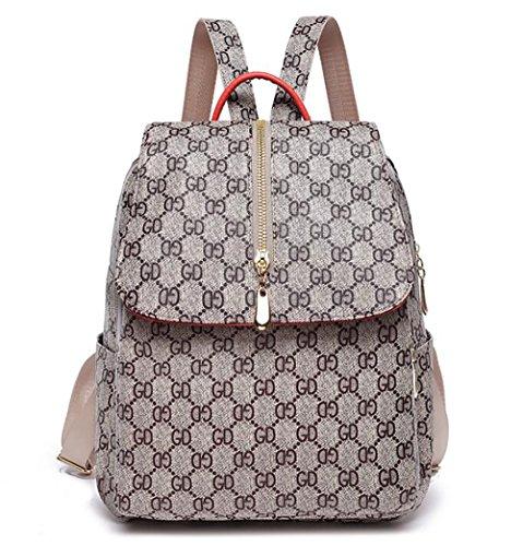 souple de 32cm sac Sac à 13 multifonctionnel dos sac PU femmes de mode main cuir décontracté à en 26 q1wxEzR