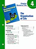 img - for Holt Environmental Science Chapter 4 Resource File: The Organization of Life book / textbook / text book
