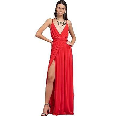 disponibile 96da3 3b733 ARTIGLI Abito AC0199192 AA7456 Donna Rosso 48: Amazon.it ...