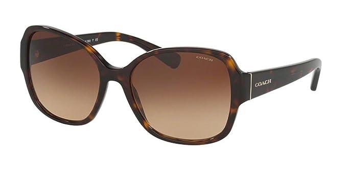 5fa664345c8 Coach Women s HC8166F Sunglasses Dark Tortoise Brown Gradient 58mm ...