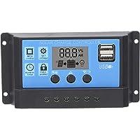 Controlador de Carga Solar Con Pantalla LCD, Regulador de Panel de Celda PWM Con Doble USB Con Identificación Automática…