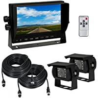 Esky 7-Inch TFT LCD Monitor Waterproof Car Color Backup Rear View Camera System