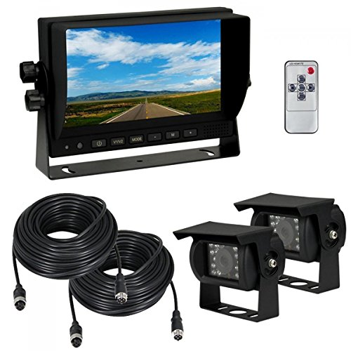 Color Lcd System - Esky 7-Inch TFT LCD Monitor Waterproof Car Color Backup Rear View Camera System