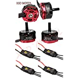XSD MOEDL 4X Emax RS2205 RS 2205 2300KV Brushless Motor +4X EMAX BLHELI 20A for 250 QAV250 ZMR250 FPV RC Quadcopter