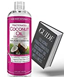 natural coconut oil for hair - Fractionated Coconut Oil for Hair and Skin, 100% Natural and Pure, Liquid Aromatherapy Carrier Oil for Diluting Essential Oils, Hair Growth & Skin Moisturizer, Great for DIY by Pure Body Naturals
