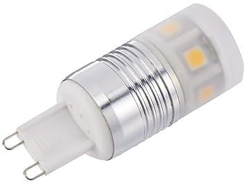 Wentronic led lampe für g9 lampensockel lichtfarbe ambient weiß