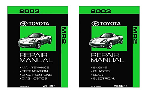 2003 Toyota MR-2 Shop Service Repair Manual Book Engine Drivetrain OEM (Services Engine)