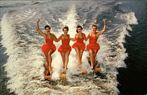 aqua-maids-performing-winter-haven-florida-original-vintage-postcard