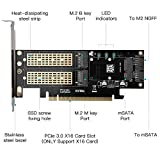 3 in 1 NGFF and mSATA SSD Adapter Card, Electop M.2