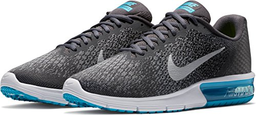 Nike Men's Air Max Sequent 2 Sneakers Dark Grey Mtlc Silver Blk free shipping excellent visit new online clearance visa payment Au6caA