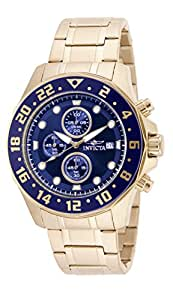 """Invicta Men's 15942 """"Specialty"""" 18k Gold Ion-Plated Stainless Steel Bracelet Watch"""