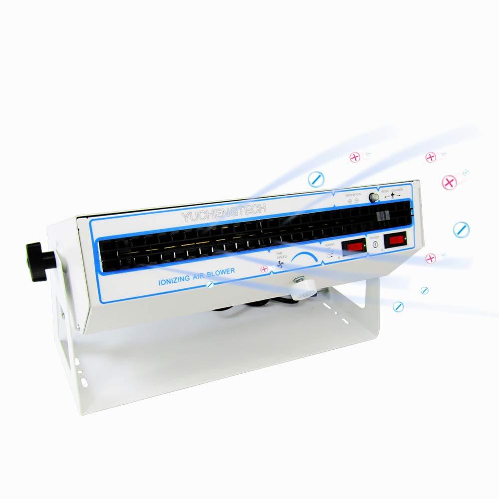 YUCHENGTECH Ionizing Air Blower Desktop Electric Ion Fan Ionizer Blower Horizontal Industrial Static Eliminator Anti-Static Fan (110V)